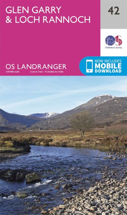 OS Landranger 42 Glan Garry and Loch Rannoch